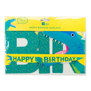 Party Dinosaur Happy Birthday Garland