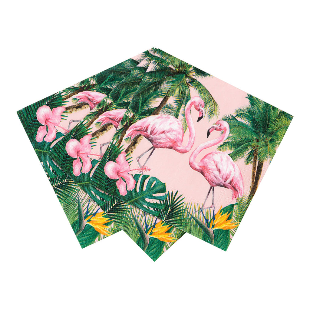 Tropical Fiesta Flamingo Cocktail Napkins