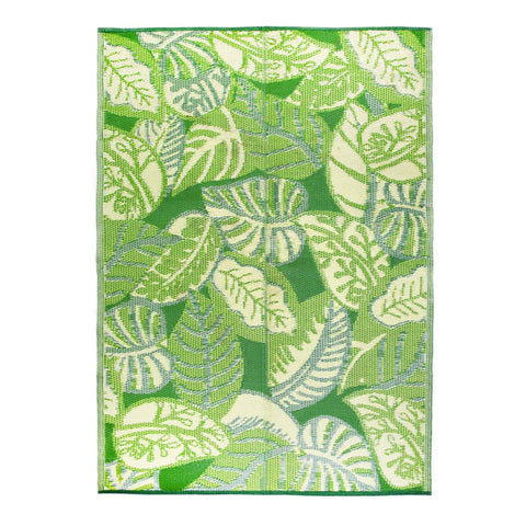 Tropical Palm Leaf Outdoor Rug