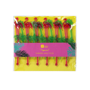 Tropical Fiesta Stirrer and Pick Set
