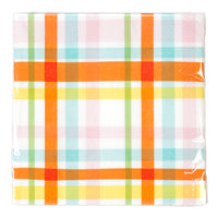 Hop Over The Rainbow Check Napkins