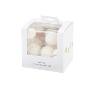 Party Illuminations White Pom Pom LED Lights