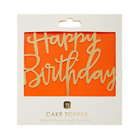 Luxe Gold Happy Birthday Cake Topper