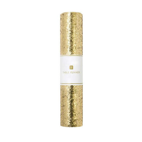 Luxe Gold Glitter Table Runner