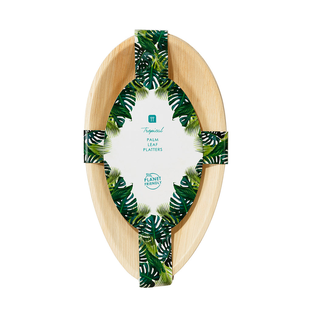 Tropical Palm Palm Leaf Platter