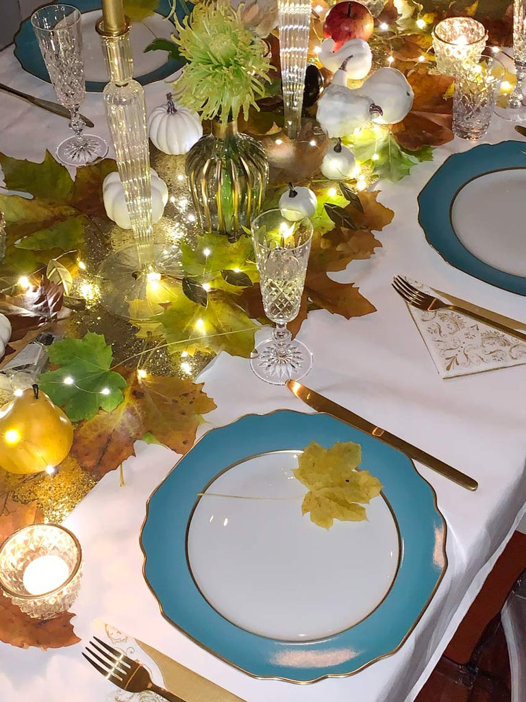 Party Porcelain Gold Table Lights
