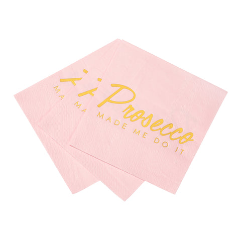 Prosecco Party Pink Cocktail Napkins
