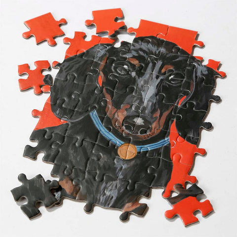Double Sided Dachshund Jigsaw Puzzle 100 Pieces
