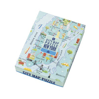 Map Jigsaw Puzzle New York 250 pieces
