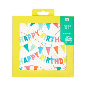 Recyclable Happy Birthday Rainbow Napkins (Pack of 20) - Talking Tables