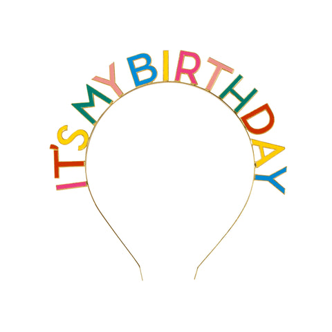 Birthday Brights Rainbow It's My Birthday Headband