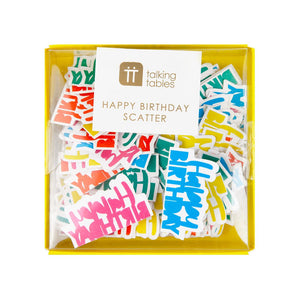 Birthday Brights Rainbow Happy Birthday Scatter