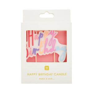 Rose Large Happy Birthday Candle