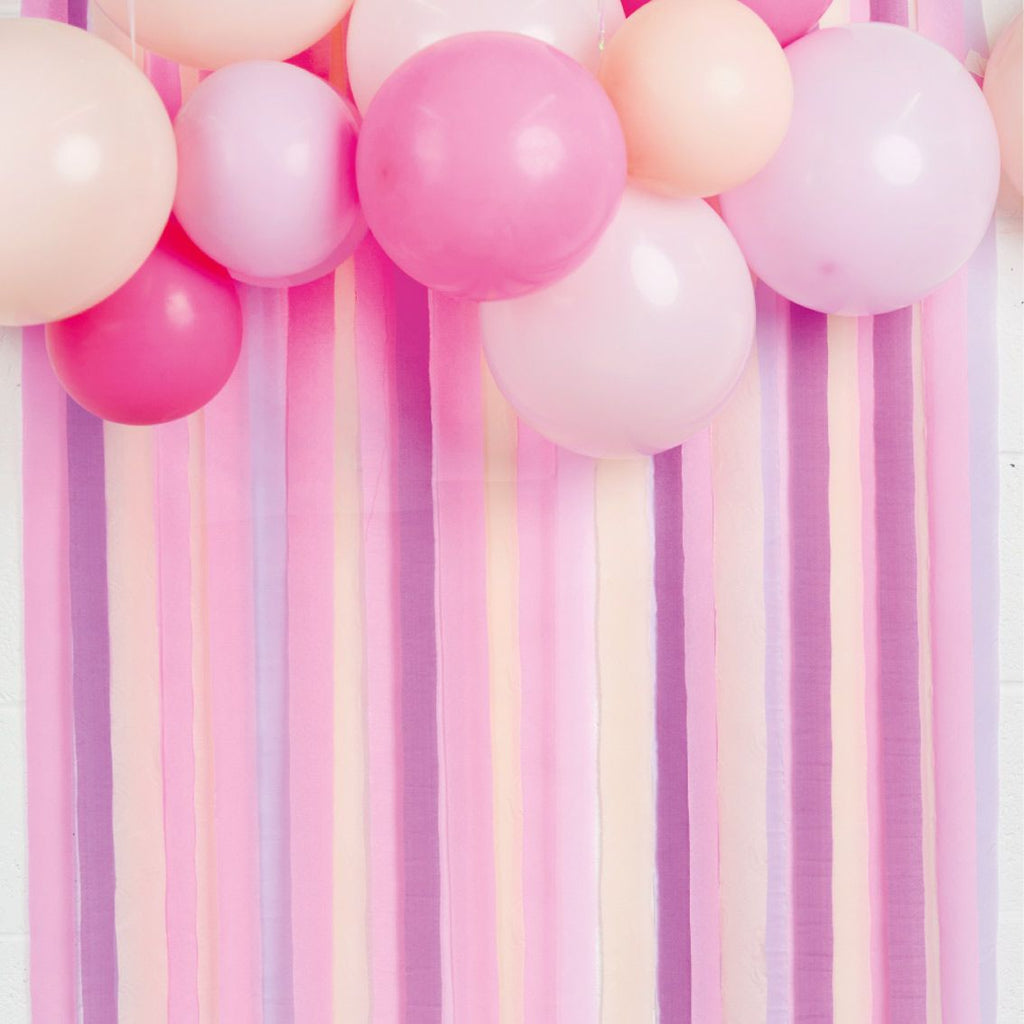 Pink Paper Party Streamers (Pack of 7) - Talking Tables