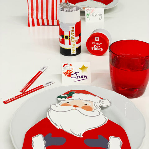 Craft With Santa Shaped Napkin With Colour In Placecards 16 Pack