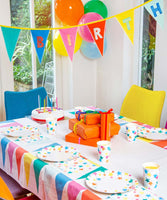We Heart Birthdays Rainbow Fabric Table Cover
