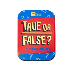 True or False In a Tin