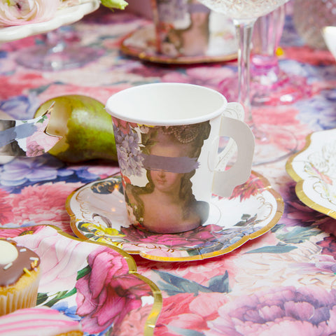 Truly Scrumptious Cup With Handles And Saucer Set, 12Pk