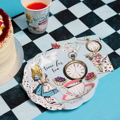 Truly Alice Blue Paper Plates