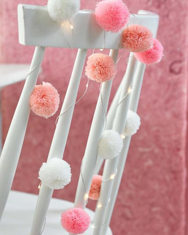 We Heart Pink Pom Pom Lights