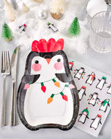 Penguin Parade Shaped Plate