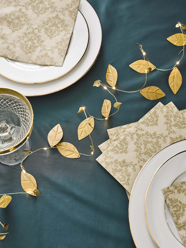 Damask Leaves String Lights