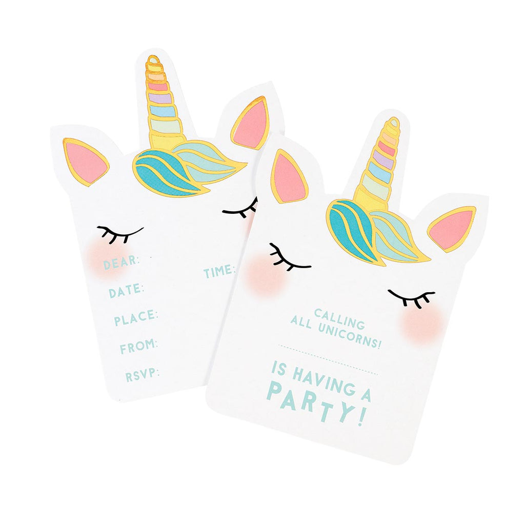 We Heart Unicorns Invitations