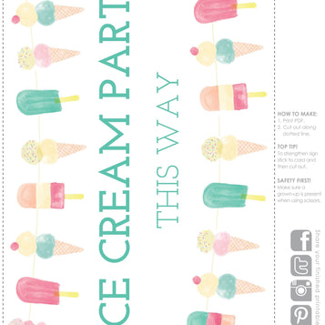 Printable - We Heart Ice Cream