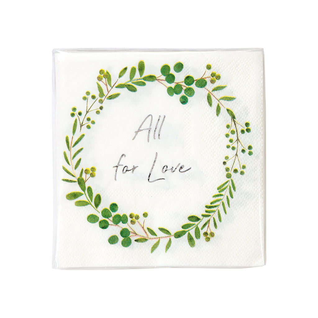 Botanical Bride Cocktail Napkins