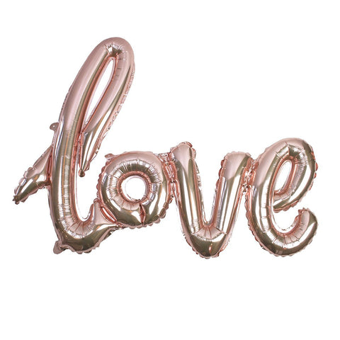 Truly Romantic Rose Gold Love Balloon