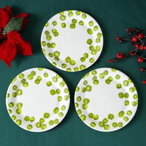 Image - Botanical Christmas Sprout Paper Plates