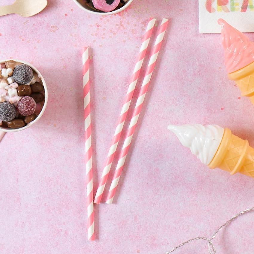 Mix & Match Pink Straws