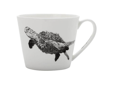 MW Marini Ferlazzo Mug African green Sea Turtle 450ml Gift Boxed