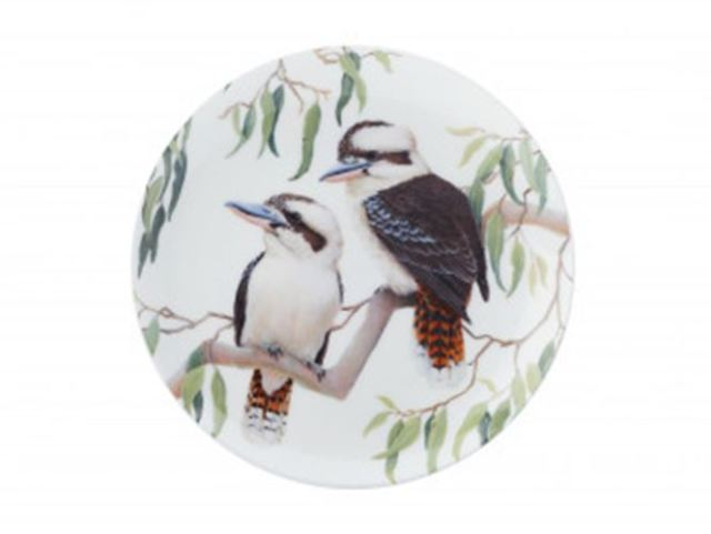 MW Cashmere Birdsong Plate 20cm Kookaburra Gift Boxed