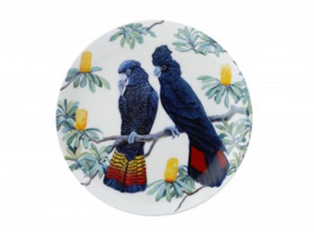 MW Cashmere Birdsong Plate 20cm Cocktatoo Gift Boxed