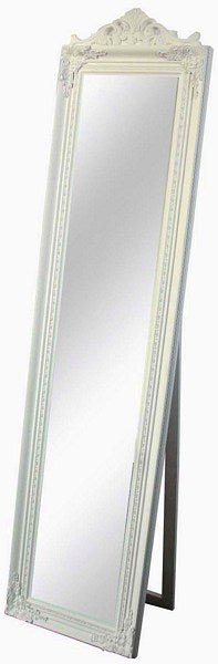 Mirror w/Frame 44x180cm - WHITE Gloss Finish