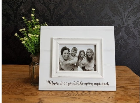 """mum love you to the moon and back"" 5""x 7"" photo frame"