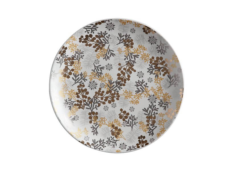 Yuletide Plate Round 22cm Evergreen