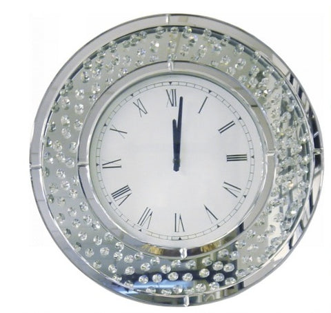 50cm Round Mirror/ Crystal Clock