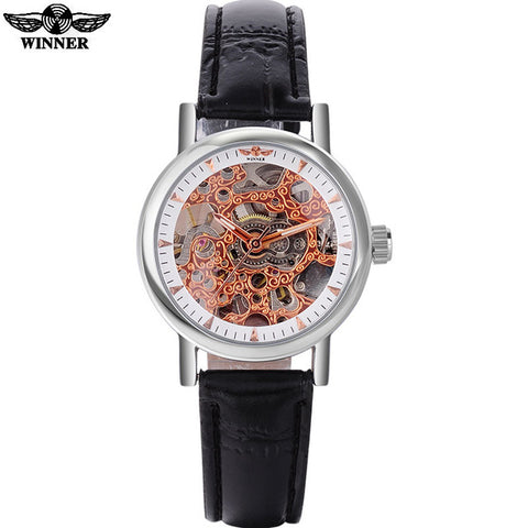 WINNER Women's Skeleton Automatic Watches