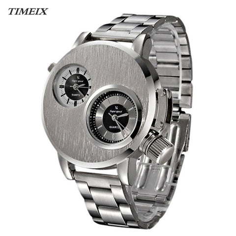 Fashion Stainless Steel Date Military Sport Quartz Men