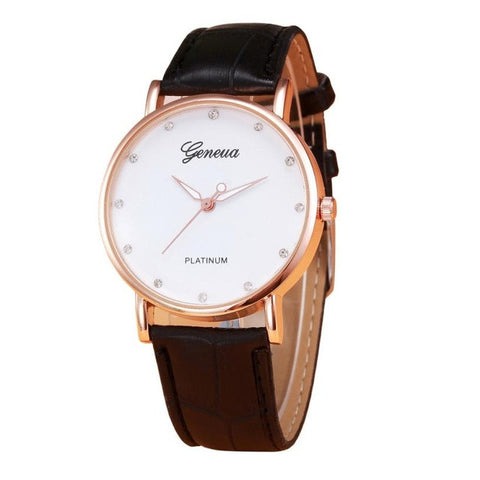 Women's Casual PU Leather Watch