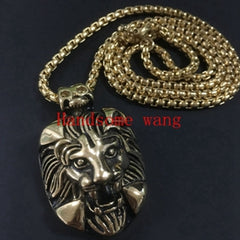 Perfect Technology Handsome Boy 316L Stainless Steel Silver Black Gold Lion