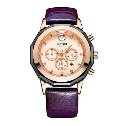 Luxury Brand Ladies Watch Fashion Leather Wrist Quartz