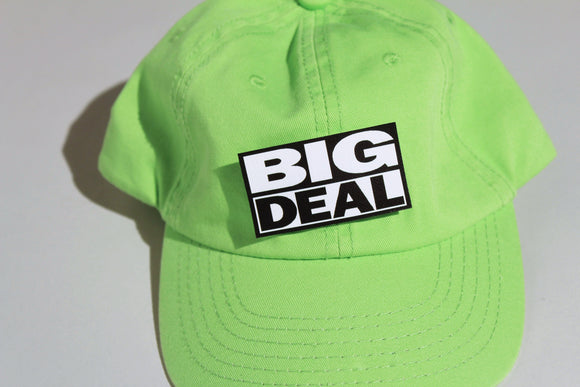 Green Unstructured Cap