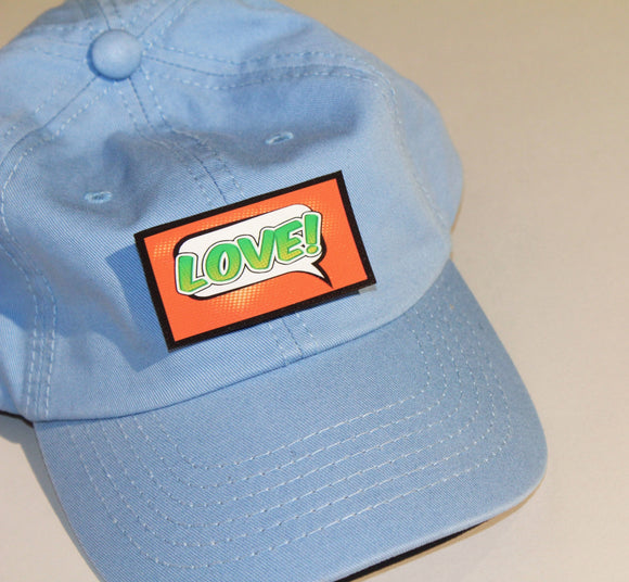 Blue Unstructured Cap