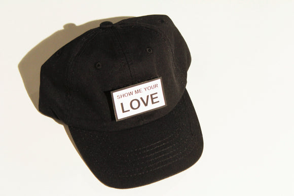 Black Unstructured Cap