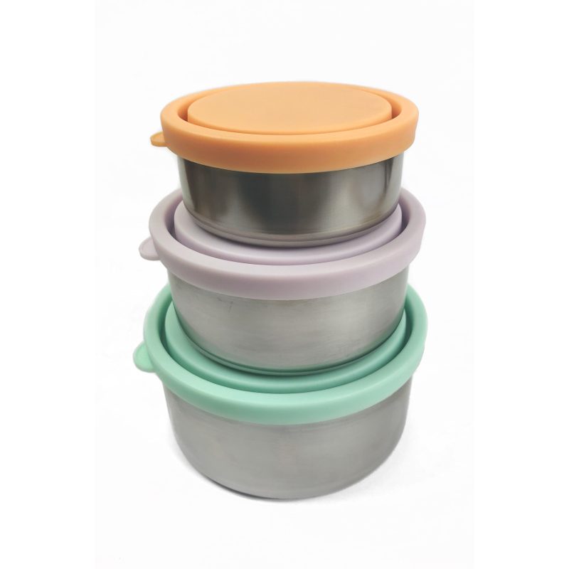 Ever Eco Stainless Steel Round Nesting Containers Set Of 3