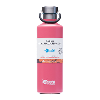 Cheeki Stainless Steel Insulated Drink Bottle 600ml - Dusty Pink