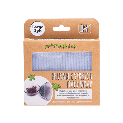 Little Mashies Reusable Stretch Food Wrap Large - 2 Pack